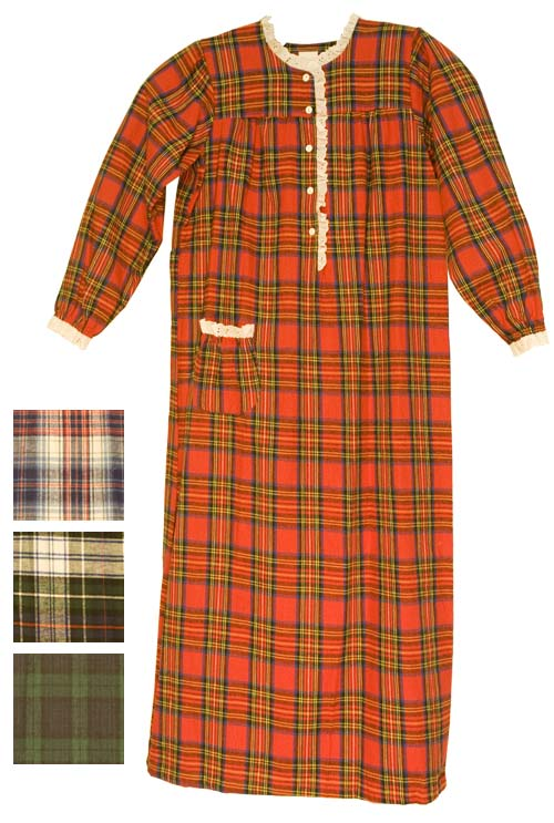 Carole Cotton Flannel Floor Length Granny Nightgown