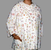 2221 Carole Brand 100% Cotton Flannel Bed Jacket