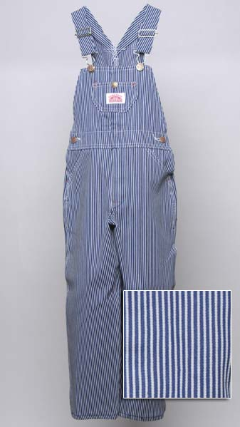 Roundhouse Children's Hickory Stripe Denim Overalls
