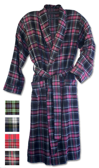 7501 - State-O-Maine® Men s 100% Cotton Yarn-Dyed Flannel Robe 50 ... b052fda49
