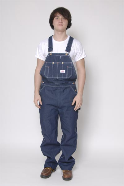 Round House Denim Low-Back Overalls