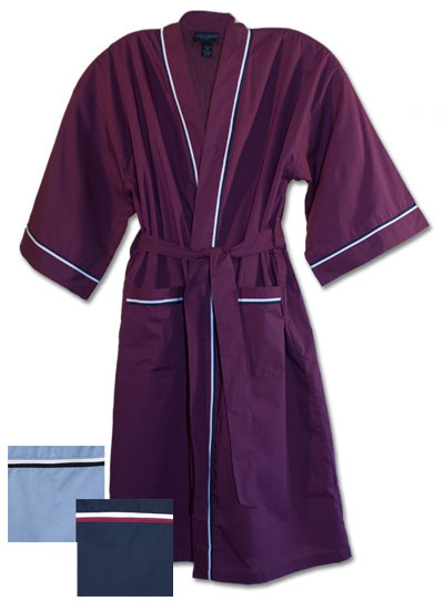 State-O-Maine Men's Broadcloth Robes 48