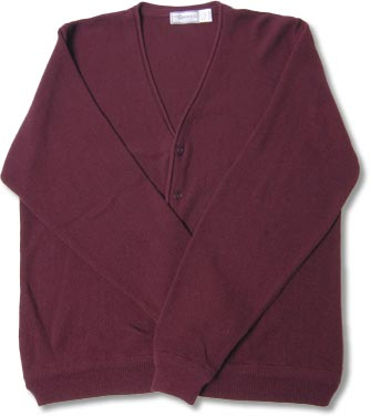 Men's Orlon Acrylic Cardigan Sweater