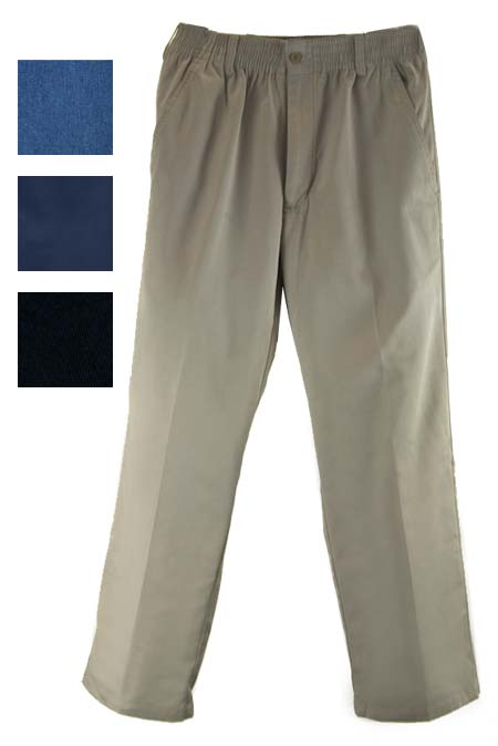 Men's Full Elastic Waist Pants/Slacks