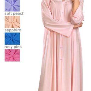 71280 – Shadowline® Petals 54″ 100% Nylon Long Sleeve Long Robe 3e6337fe7