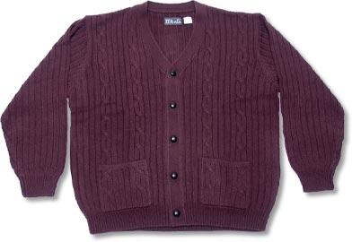 9306 Orlon Acrylic Mens Cardigan Sweater Wpockets Et Reavis